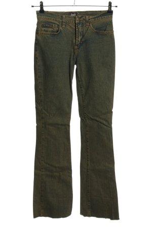Dolce & Gabbana Jeansy o kroju boot cut brązowy W stylu casual