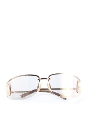 Dolce & Gabbana ovale Sonnenbrille goldfarben-braun Business-Look