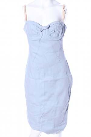 Dolce & Gabbana Bustier Dress blue-cream casual look