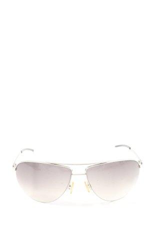 Dolce & Gabbana Butterfly Brille hellgrau Schriftzug gedruckt Casual-Look