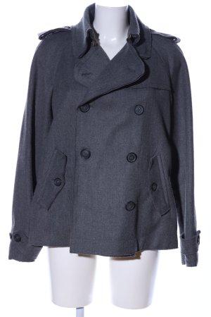 Dolce & Gabbana Pea Jacket light grey flecked casual look