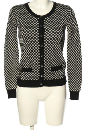 Dolce & Gabbana Cardigan schwarz-wollweiß grafisches Muster Casual-Look