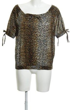 Dolce & Gabbana Carmen-Bluse Leomuster schlichter Stil