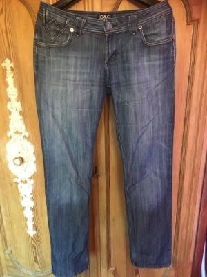 Dolce & Gabbana pantalón de cintura baja azul acero-gris pizarra Algodón