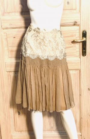 Dolce & Gabbana Jupe en soie blanc cassé-beige soie