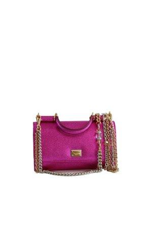 Dolce & Gabbana Clutch in Rosa aus Leder