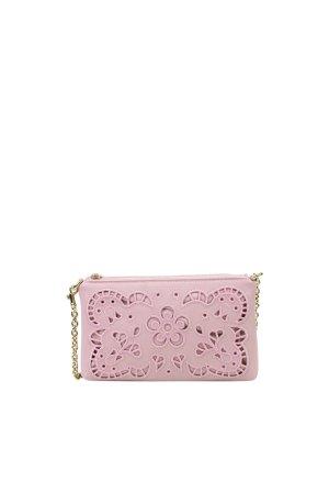 Dolce & Gabbana Clutch lichtroze Leer