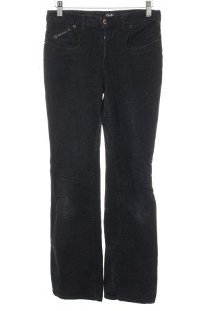 Dolce & Gabbana Pantalón de pana negro look casual