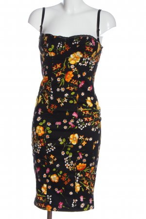 Dolce & Gabbana Vestido corsage estampado repetido sobre toda la superficie