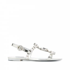 Dolce&Gabbana Crystal Embellished Sandals