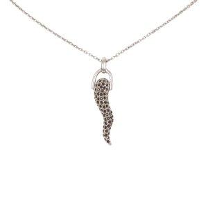 Dolce&Gabbana Crystal Horn Pendant Necklace