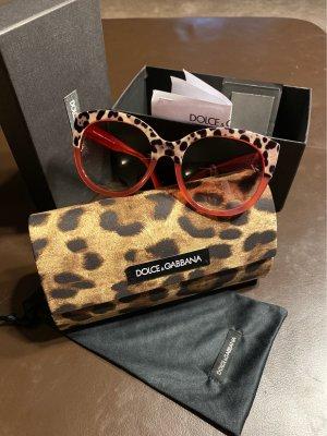 Dolce & Gabbana Lunettes papillon marron clair-rose