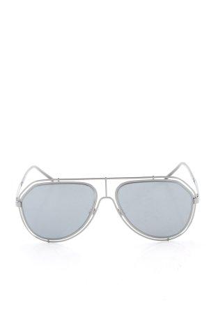 Dolce & Gabbana eckige Sonnenbrille silberfarben-blau Casual-Look
