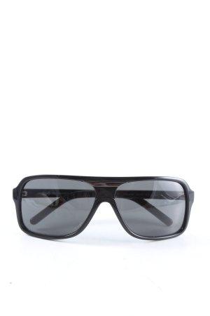 Dolce & Gabbana Lunettes de soleil angulaires noir style décontracté