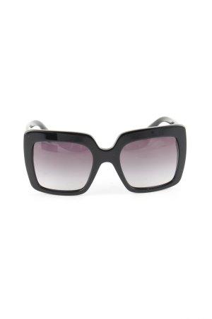 Dolce & Gabbana Lunettes de soleil angulaires noir-violet gradient de couleur