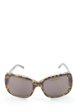 Dolce & Gabbana Hoekige zonnebril abstract patroon elegant
