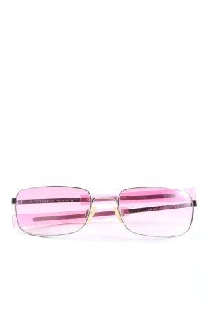 Dolce & Gabbana eckige Sonnenbrille pink-silberfarben Casual-Look