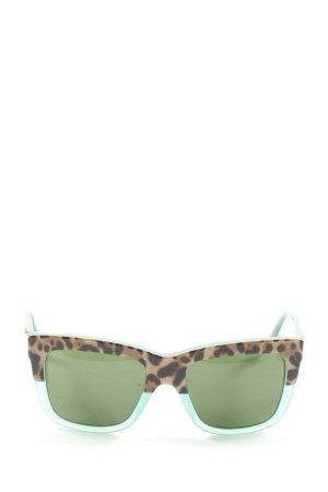 Dolce & Gabbana Gafas de sol cuadradas estampado de leopardo look casual