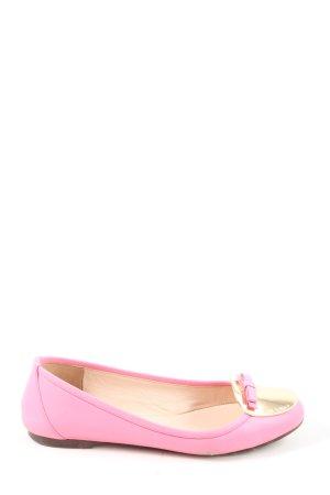 Dolce & Gabbana Składane baleriny różowy W stylu casual