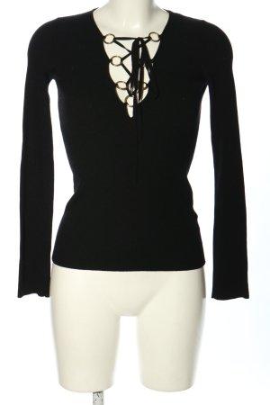 Dolce & Gabbana Pull en maille fine noir style décontracté