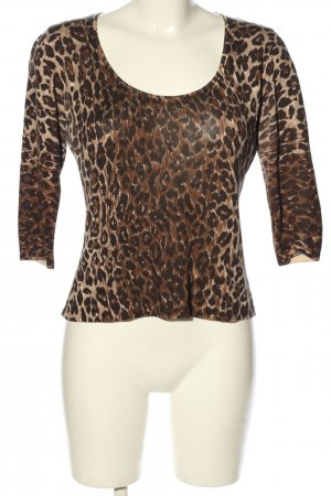 Dolce & Gabbana Feinstrickpullover braun-schwarz Leomuster Casual-Look