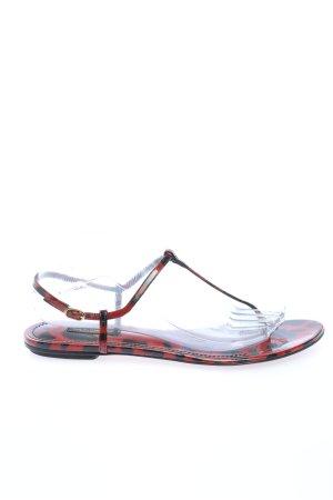 Dolce & Gabbana Flip Flop Sandalen rot-schwarz Animalmuster Casual-Look