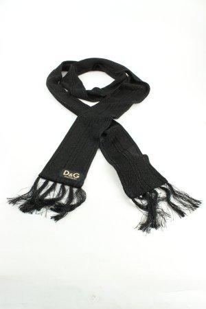 Dolce & Gabbana Bufanda de flecos negro estilo «business»