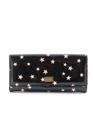 Dolce & Gabbana Geldbörse schwarz-creme Motivdruck Business-Look