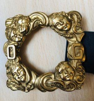 Dolce & Gabbana Cintura di pelle nero-giallo-oro