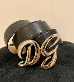 Dolce & Gabbana Ceinture en cuir noir