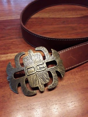 Dolce & Gabbana Leather Belt brown-gold-colored leather