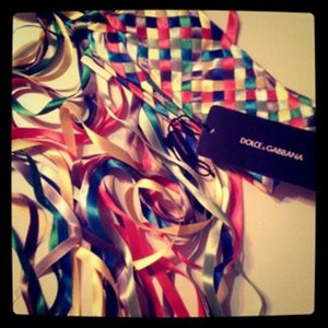 Dolce & Gabbana Fabric Belt multicolored