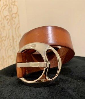 Dolce & Gabbana Cinturón de cuero coñac