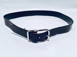 Dolce & Gabbana Cinturón de cuero marrón oscuro-color plata