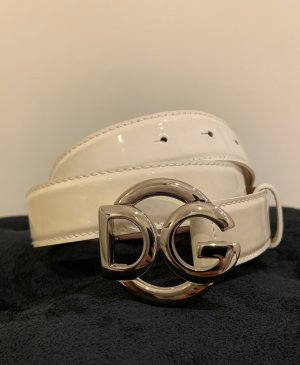 Dolce & Gabbana Leather Belt white-cream