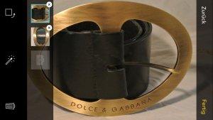 Dolce & Gabbana Cinturón negro-color oro