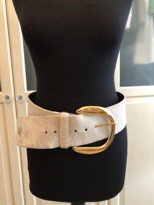 Dolce & Gabbana Ceinture de hanches blanc cassé-jaune foncé fourrure