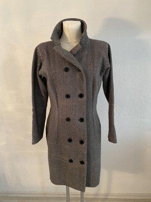 Dolce&Gabbana Hahnentritt Mantel vintage Klassiker 36/38 schwarz Weiß Wolle