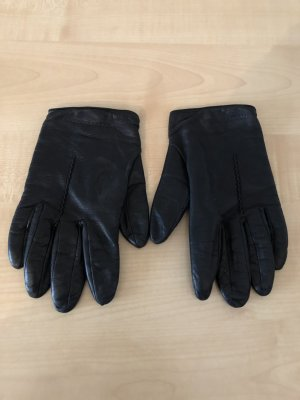 Dolce & Gabbana Leather Gloves black