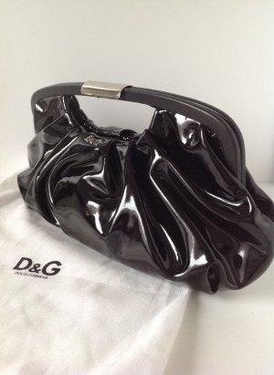 DOLCE & GABBANA Handtasche Lackleder schwarz