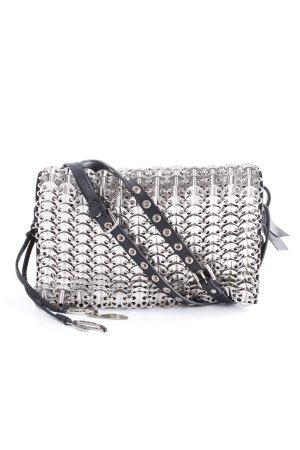 Dolce & Gabbana Handtasche silberfarben-schwarz extravaganter Stil