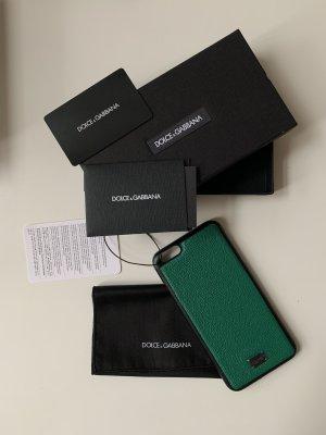 Dolce & Gabbana Pokrowiec na telefon komórkowy leśna zieleń