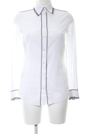 Dolce & Gabbana Hemd-Bluse weiß-blau Casual-Look