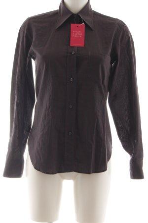 Dolce & Gabbana Hemd-Bluse braun-rot Streifenmuster Casual-Look