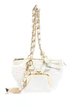 Dolce & Gabbana Henkeltasche weiß-goldfarben Elegant