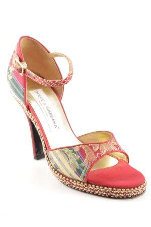 Dolce & Gabbana High Heel Sandaletten abstraktes Muster extravaganter Stil