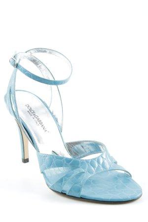 "Dolce & Gabbana High Heel Sandaletten ""ST. Cocco turchese"" hellblau"