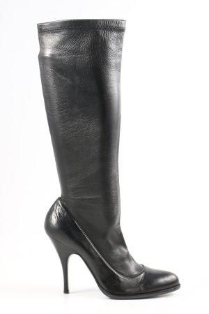 Dolce & Gabbana High Heel Stiefel schwarz Casual-Look