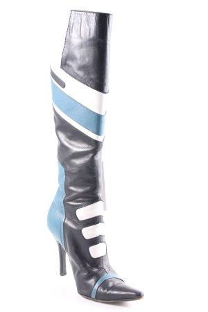 Dolce & Gabbana High Heel Stiefel abstraktes Muster Street-Fashion-Look
