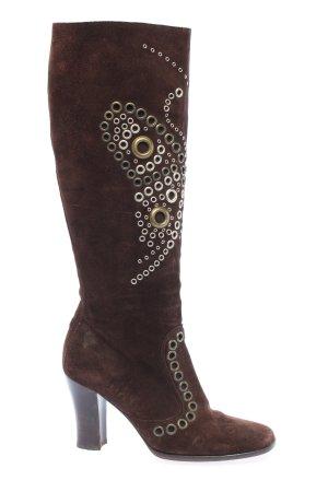 Dolce & Gabbana High Heel Stiefel braun Casual-Look